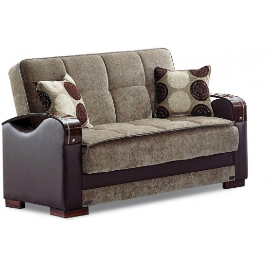 Rochester Fabric/Wood Storage Loveseat photo