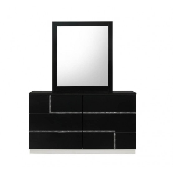 Lucca Modern Lacquer Dresser with Mirror photo