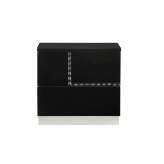 Lucca Modern Lacquer Left Nightstand photo