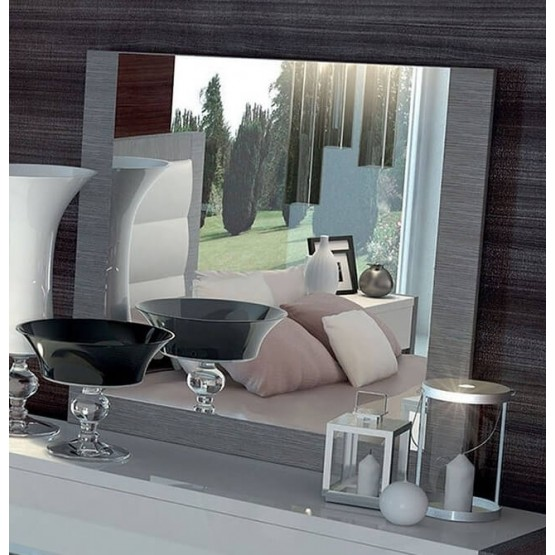 Mangano Wood Veneer Mirror photo