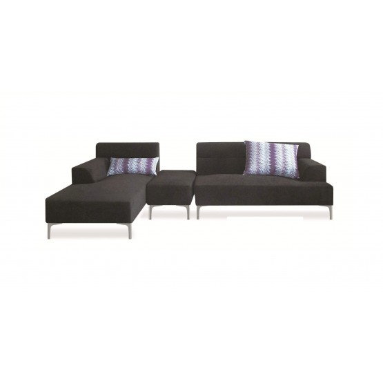 Manhattan Sectional w/Ottoman, Left Arm Chaise Facing photo