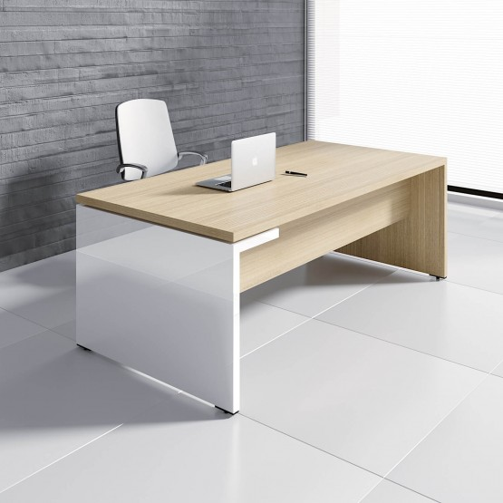 Mito Executive Desk w/HPL Side Panel photo