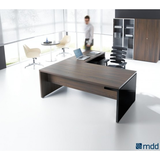 Mito L-Shape Executive Desk w/Pedestal photo
