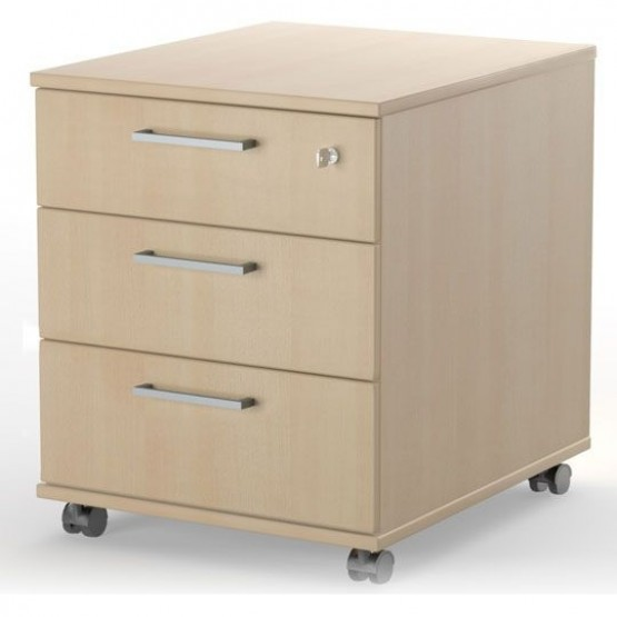 Optima Lockable Office Mobile Pedestal w/3 Drawers photo