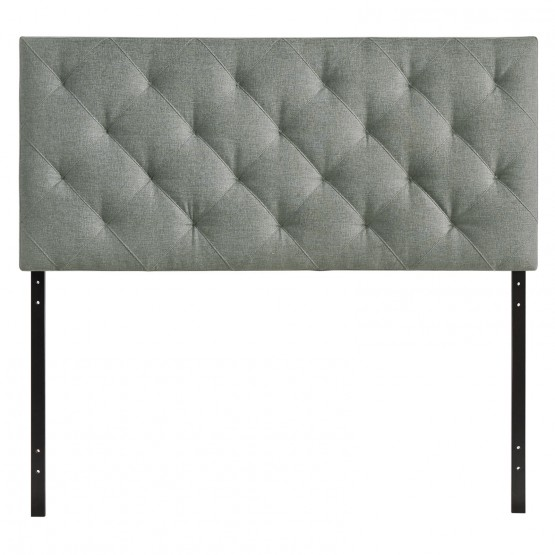 Theodore Queen Tufted Upholstered Fabric Headboard photo