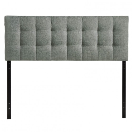 Lily Queen Fabric Headboard, Gray photo