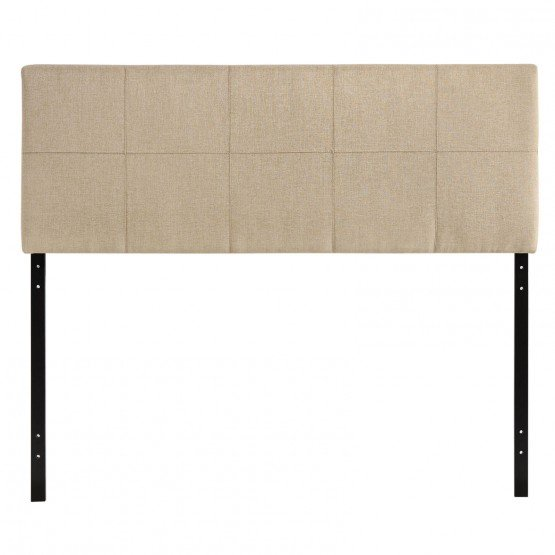 Oliver Queen Fabric Headboard, Beige photo