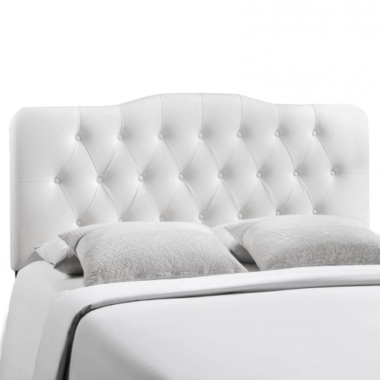Annabel Full Vinyl Headboard, White photo