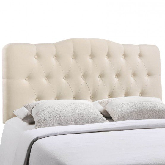 Annabel King Fabric Headboard, Ivory photo