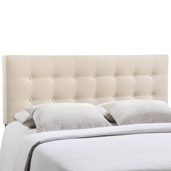 Emily Queen Fabric Headboard, Ivory photo