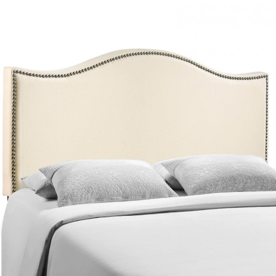 Curl Queen Nailhead Upholstered Headboard photo
