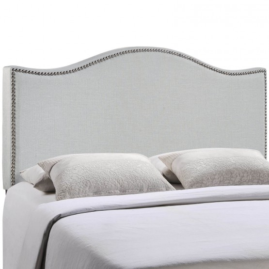 Curl King Nailhead Upholstered Headboard photo