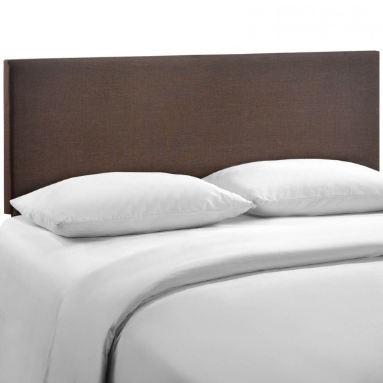 Region Queen Upholstered Headboard, Dark Brown photo