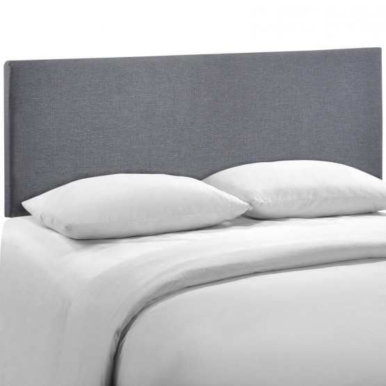Region Queen Upholstered Headboard, Smoke photo