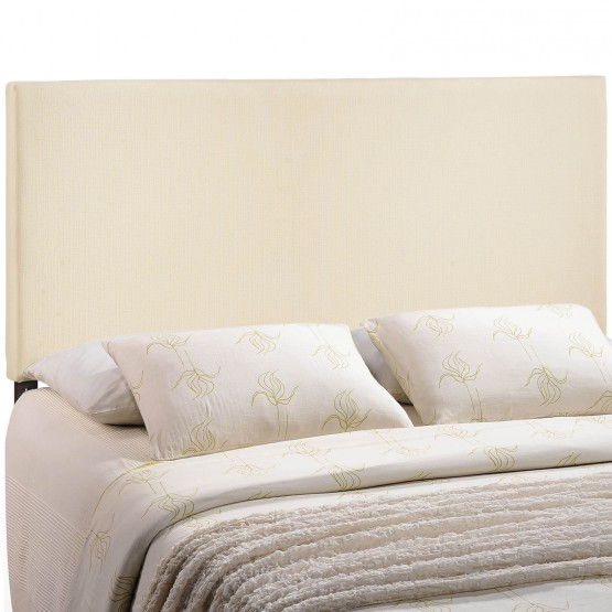 Region King Upholstered Headboard, Ivory photo