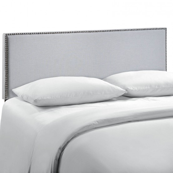 Region Nailhead Upholstered Queen Size Headboard photo