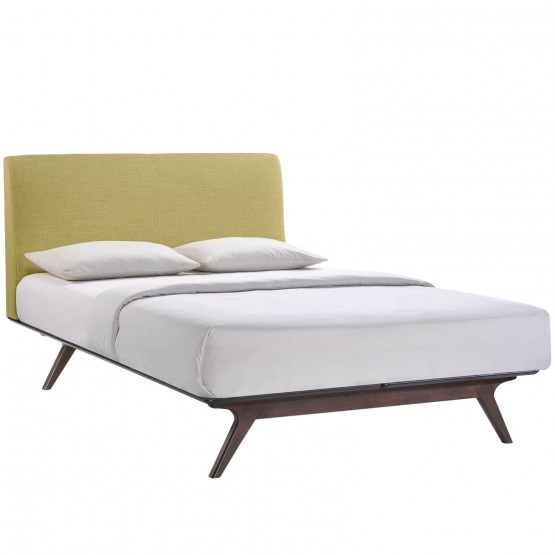 Tracy Queen Wood/Fabric Platform Bed photo