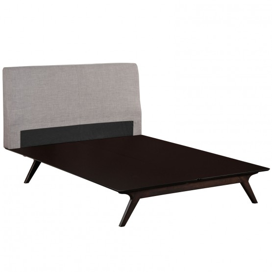 Tracy Full Wood/Fabric Platform Bed photo