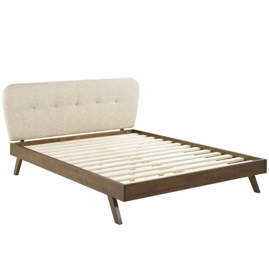 Gianna Upholstered Platform Queen Size Bed photo