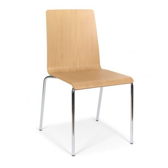 Moon Conference Wood Chair, 4-leg Frame photo