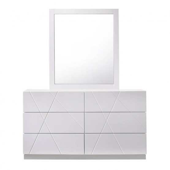 Naples Modern Lacquer Dresser with Mirror photo