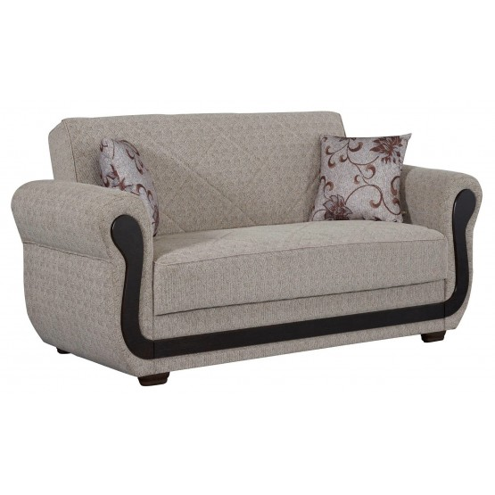 Newark Fabric/Wood Storage Loveseat photo
