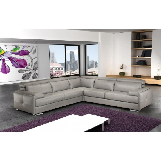 Gary Italian Leather Sectional photo