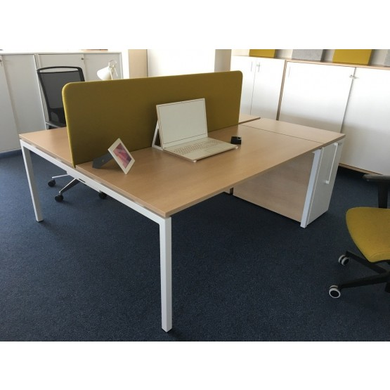 Nova U 62.9 Sliding Top Office 2-Desk Bench photo