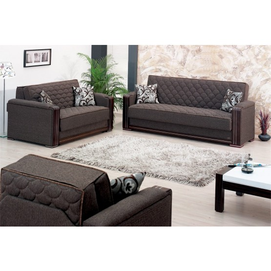 Oregon Fabric/Wood Storage Living Room Set photo