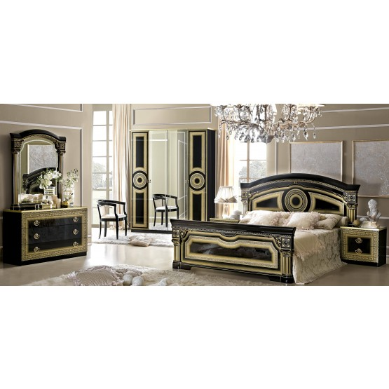Aida Wood Veneer Panel Bedroom Set photo
