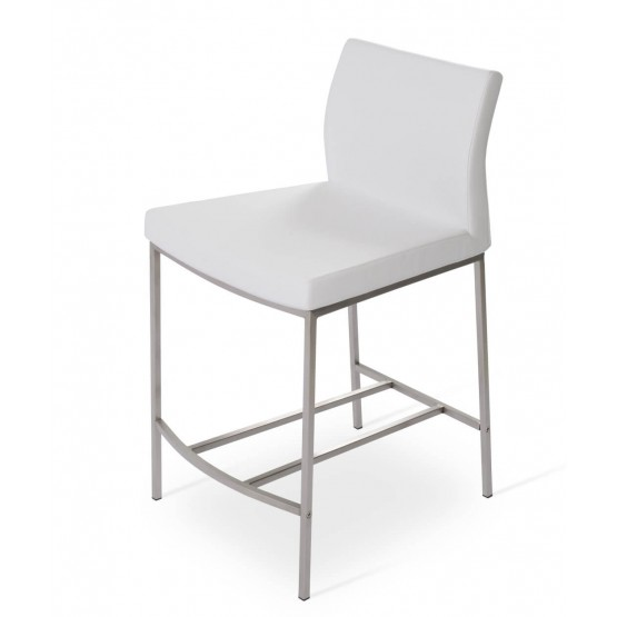 Pasha Low Back Metal Counter Stool photo