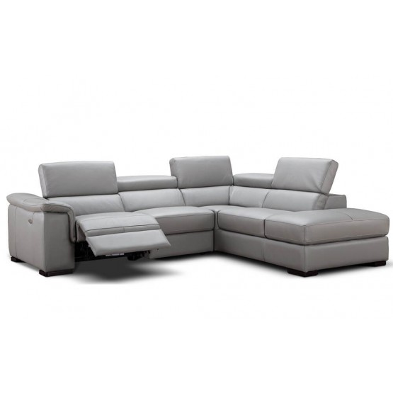 Perla Premium Leather Sectional photo
