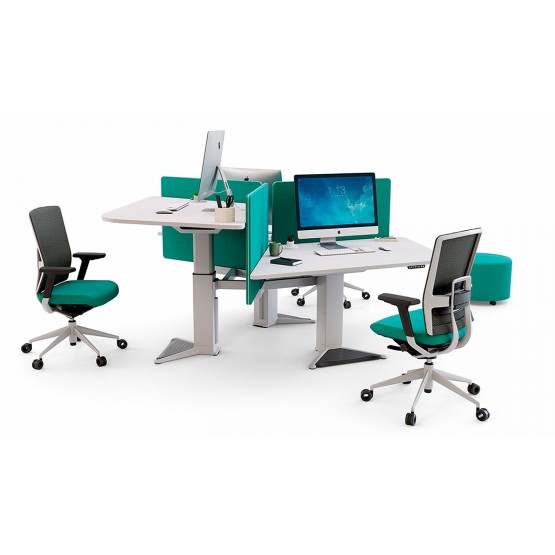 Power 100 Sit-Stand Office 3 Desk Bench photo