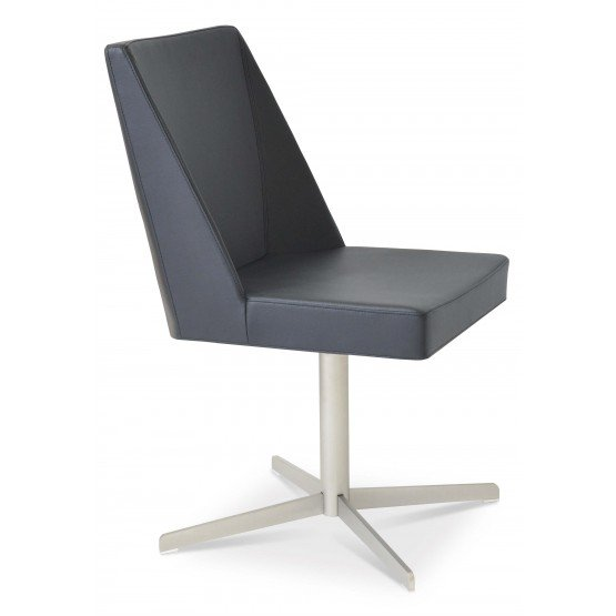 Prisma 4 Star Leatherette Swivel Dining Chair photo