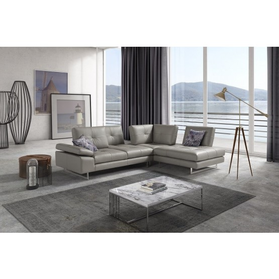 The Prive Premium Italian Leather Sectional photo