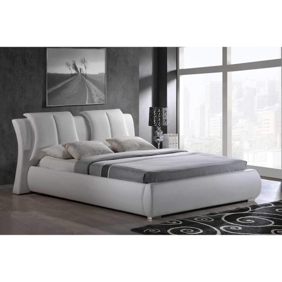 8269 Queen Size Bed White By Global, What Is A Queen Size Bed Usa