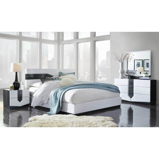Hudson Bedroom Set Zebra Grey