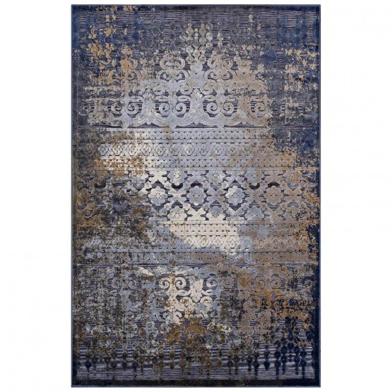 Kalene Distressed Vintage Turkish Polypropylene Rug photo