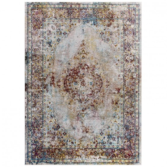 Success Merritt Transitional Distressed Floral Persian Medallion Rug photo