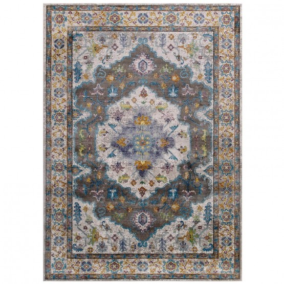 Success Anisah Distressed Floral Persian Medallion Rug photo