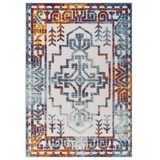 Reflect Nyssa Distressed Geometric Southwestern Aztec Indoor/Outdoor Area Rug photo