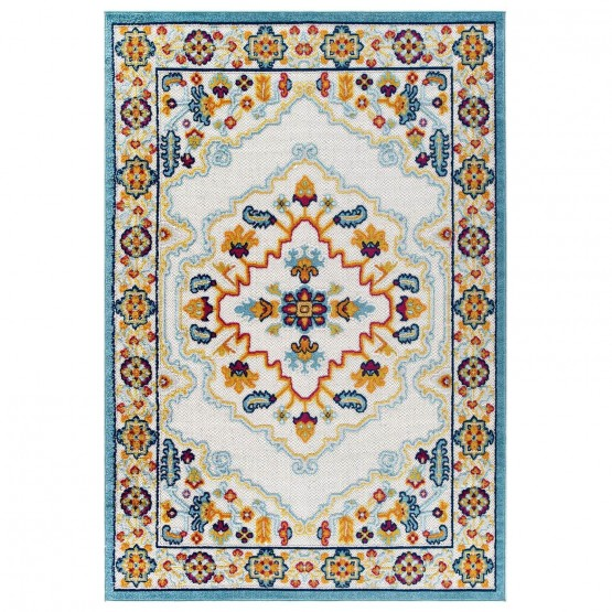Reflect Ansel Distressed Floral Persian Medallion Indoor/Outdoor Area Rug photo