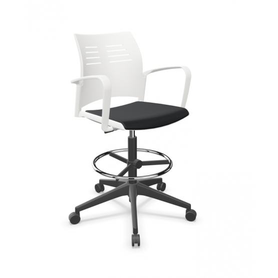 Spacio Polypropylene Gaslift Swivel Office Draughtman Armchair w/Pad Seat photo