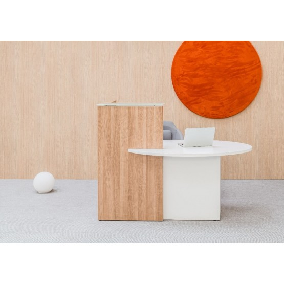 OVO Small Reception Desk w/Left-Handed Counter Top, ADA Compilance photo