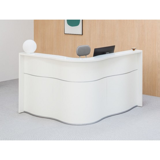 WAVE 1-Person L-Shaped Reception Desk photo