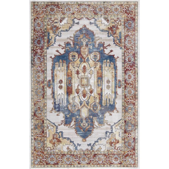 Rhapsody RH06 Polypropylene Vintage Abstract Rug photo