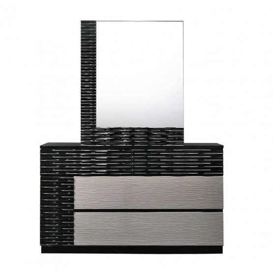 Roma Modern Lacquer Dresser with Mirror photo