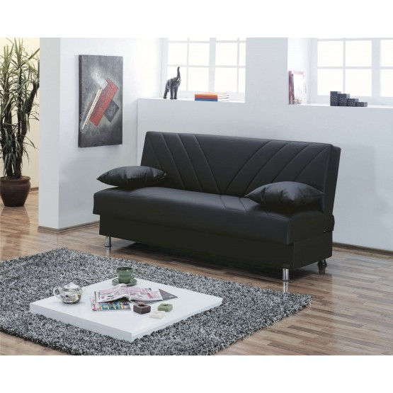 Halifax Leatherette Storage Sofabed