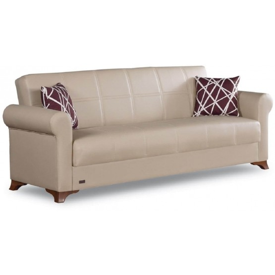 Yonkers Bonded Leather Storage Sofabed photo