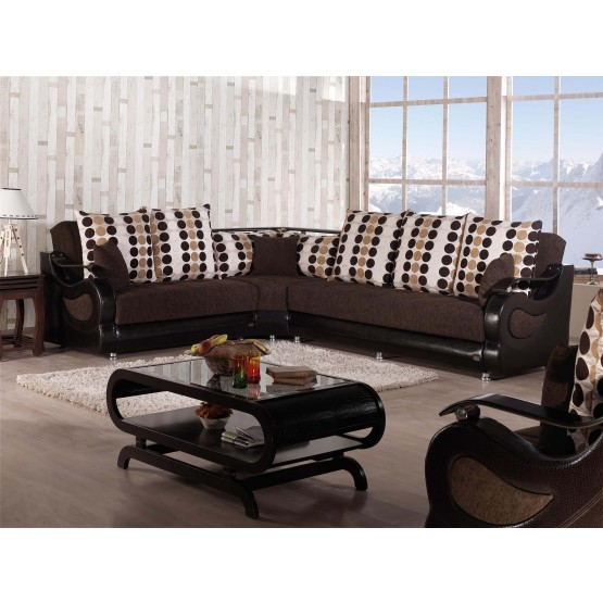 Richmond Fabric Storage Sectional photo